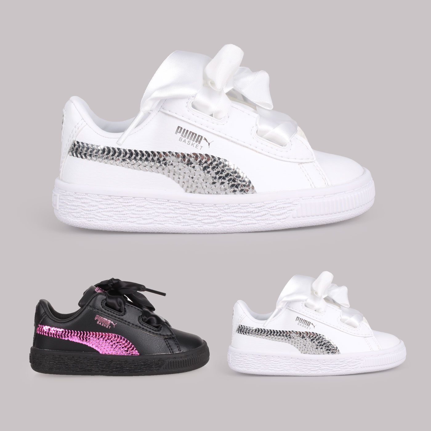 PUMA 兒童休閒運動鞋  @Basket Heart Bling Inf@36684901