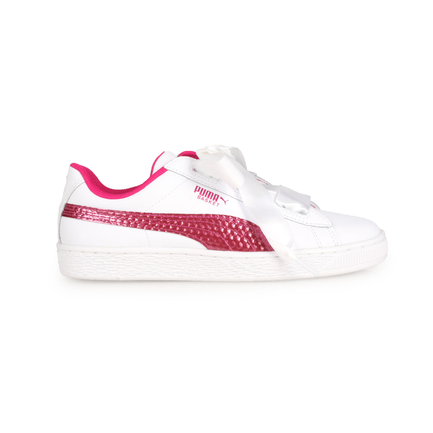 PUMA 大童休閒運動鞋  @Basket Heart Coated Glam Jr@36897401