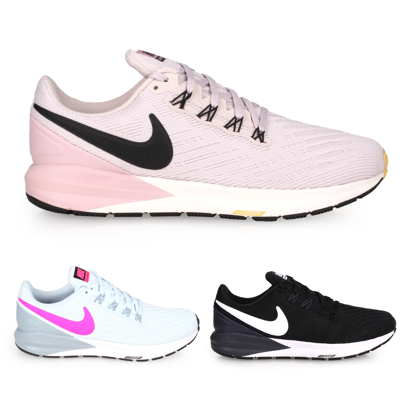 NIKE 女款慢跑鞋  @W AIR ZOOM STRUCTURE 22@AA1640009