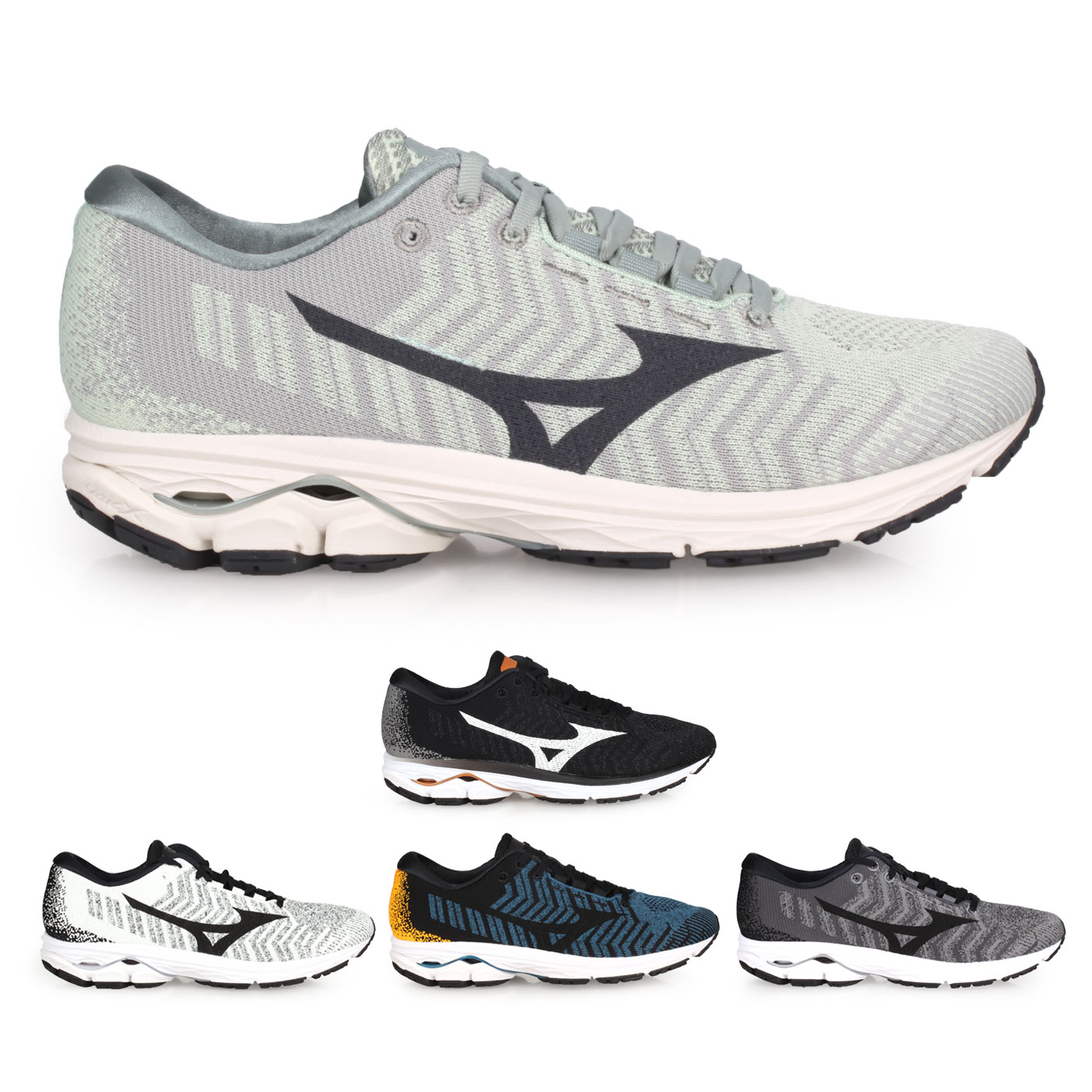 MIZUNO 男款慢跑鞋  @WAVE RIDER WAVEKNIT 3@J1GC192901