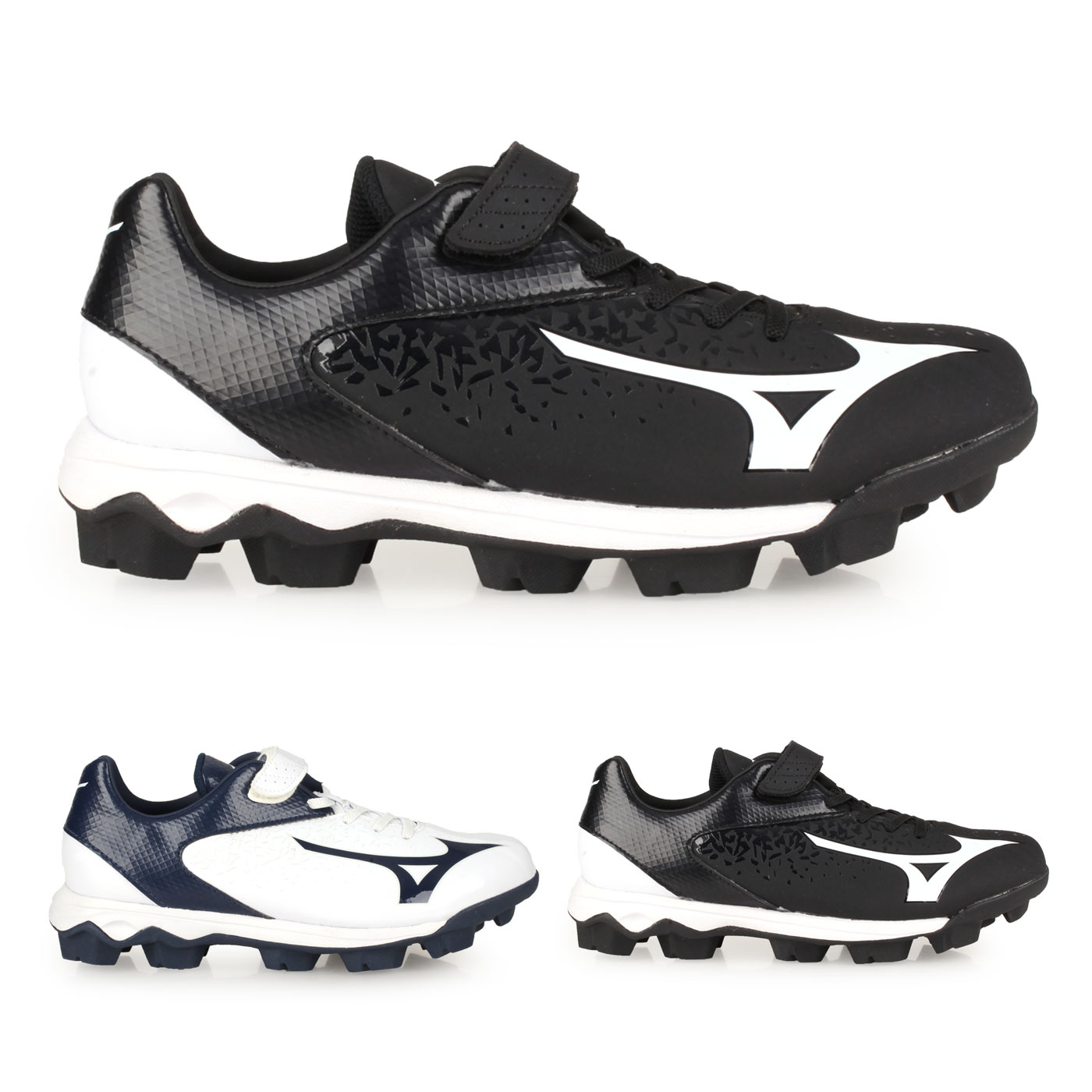 MIZUNO 兒童棒壘球鞋-WIDE  @WAVE SELECT NINE Jr.@11GP192509