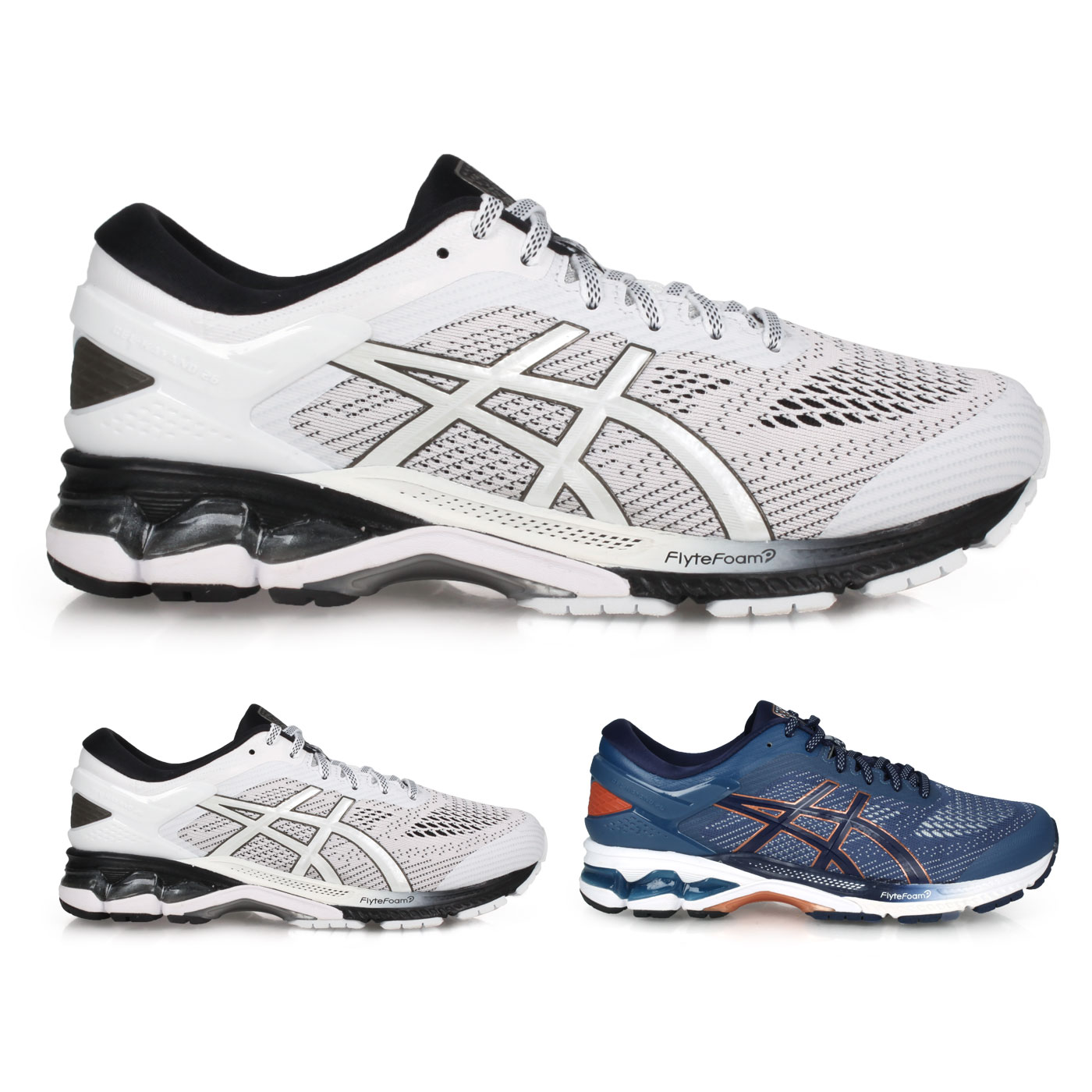 ASICS 男款慢跑鞋  @GEL-KAYANO 26@1011A541-101