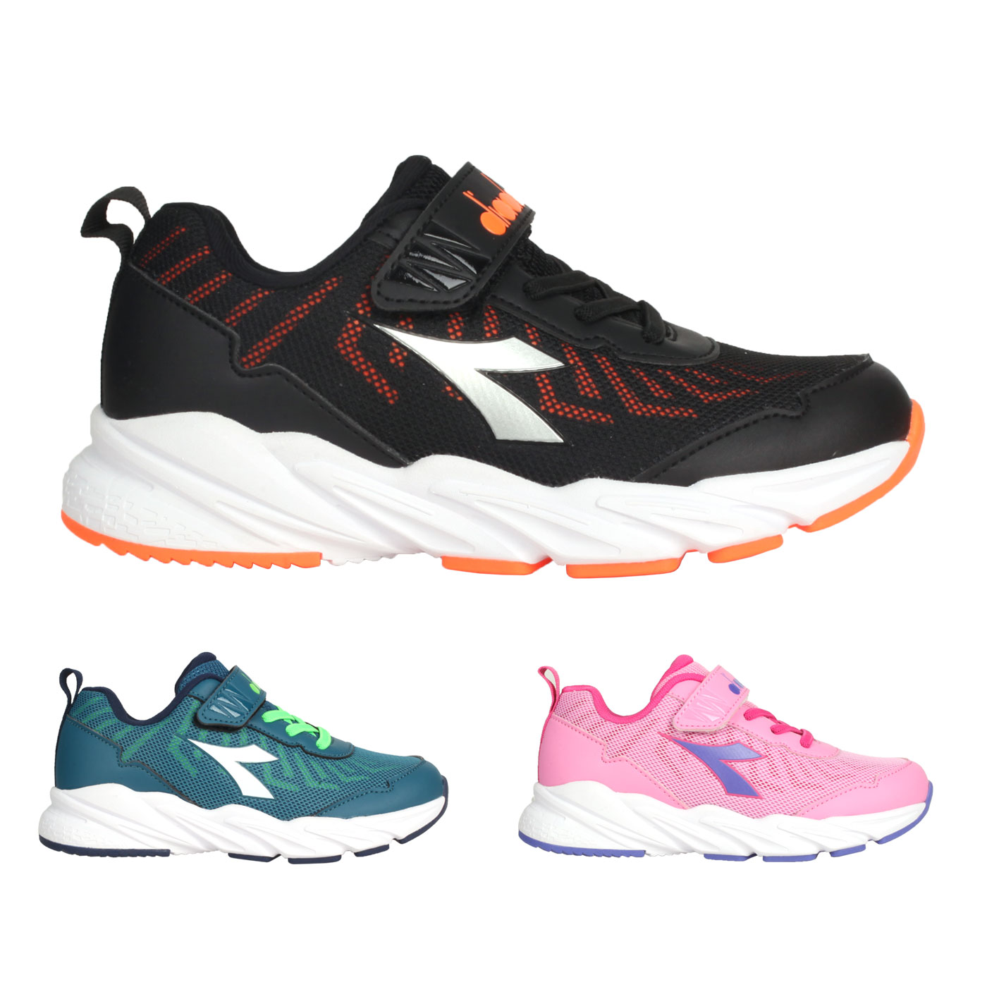 DIADORA 中童輕量慢跑鞋-超寬楦 DA13011