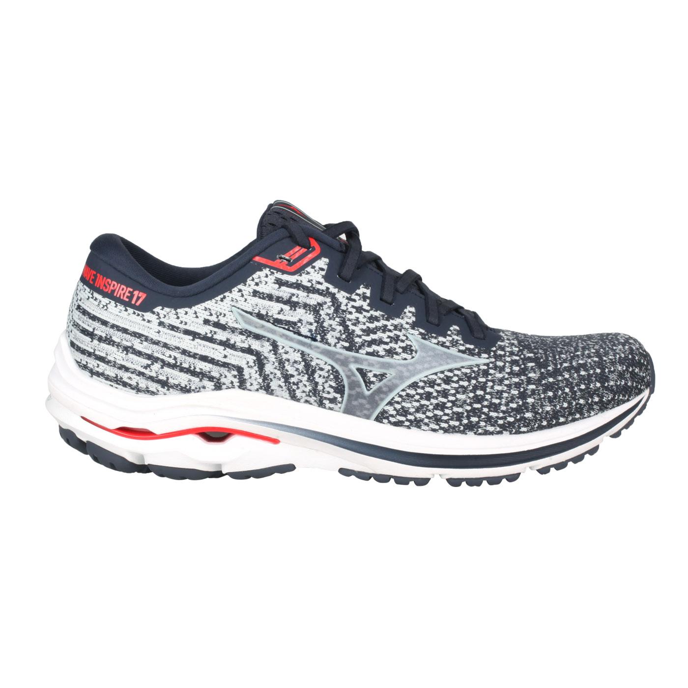 MIZUNO 男慢跑鞋-4E  @WAVE INSPIRE 17 WAVEKNIT SW@J1GC212221