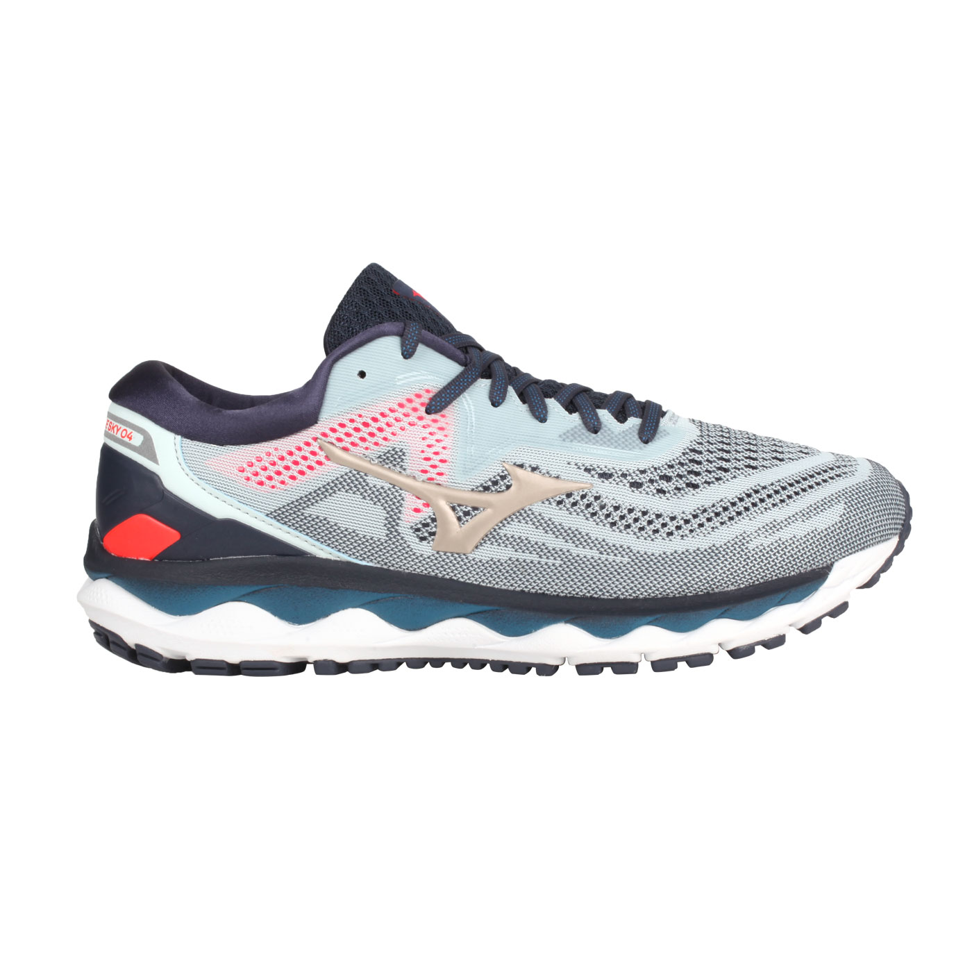 MIZUNO 男款慢跑鞋  @WAVE SKY 4@J1GC200242