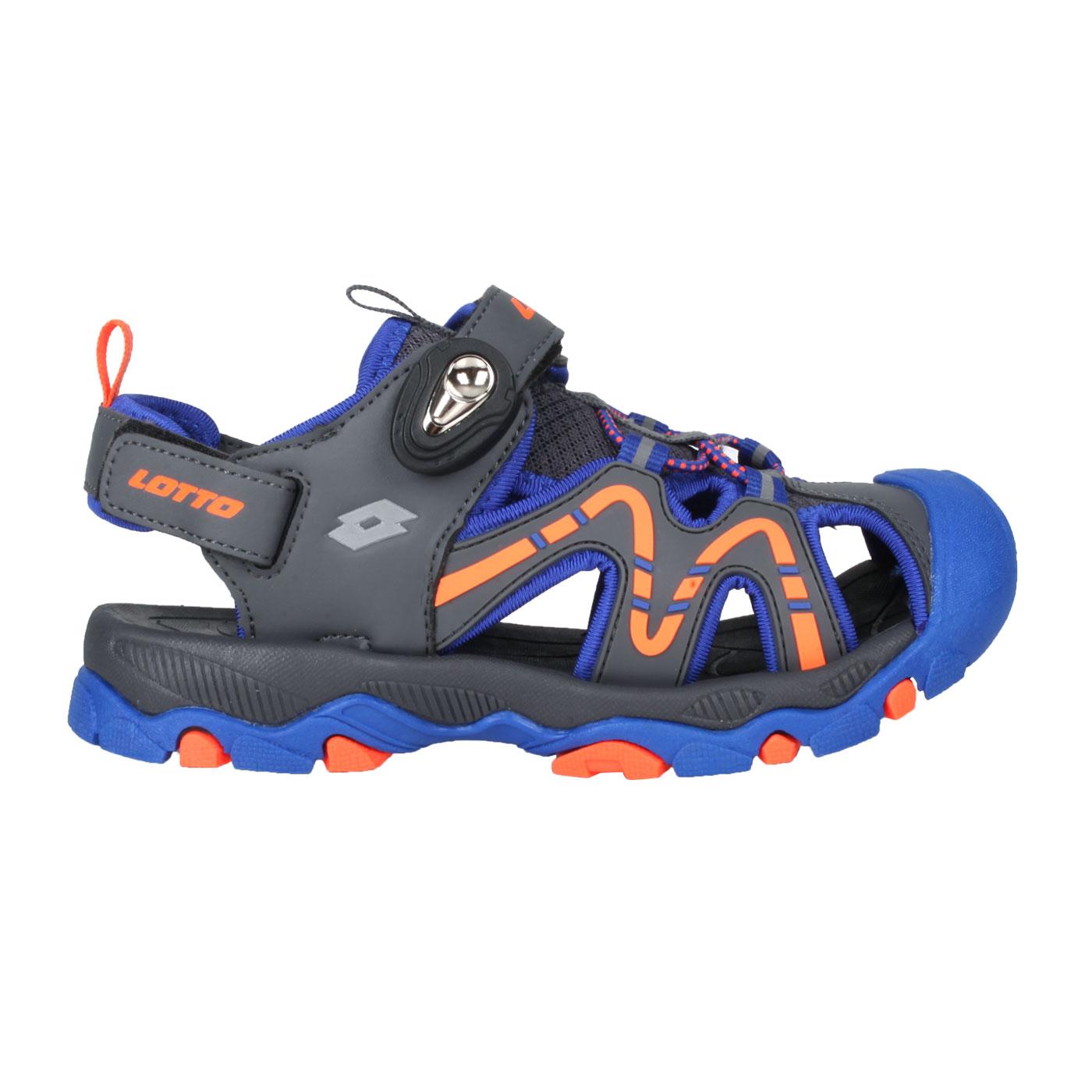 LOTTO 大童磁扣護趾涼鞋 LT1AKS3386