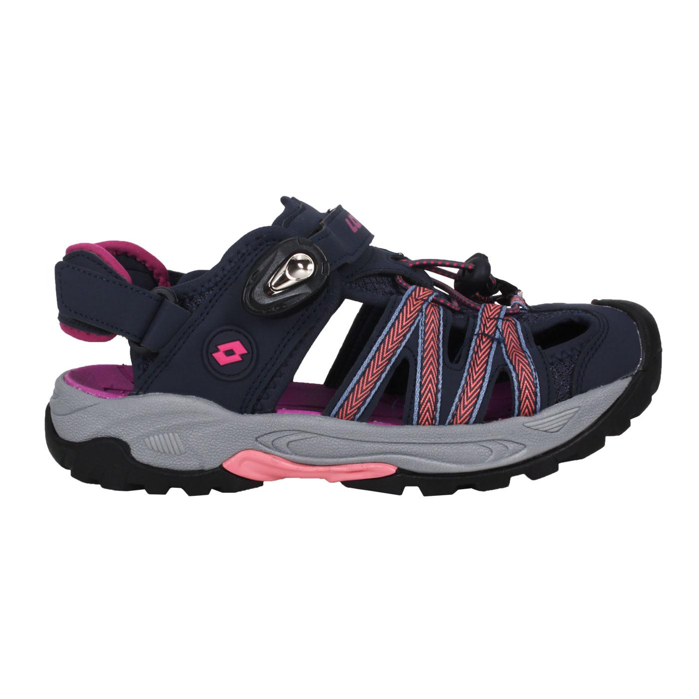 LOTTO 緹花磁扣護趾涼鞋 LT1AWS3267