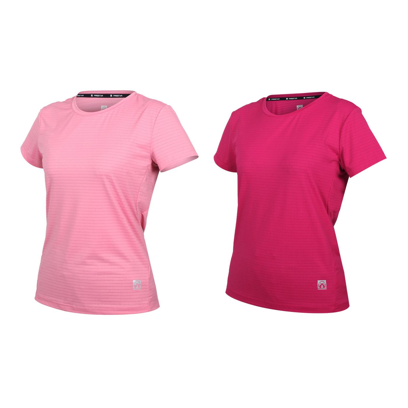 FIRESTAR 女款彈性機能圓領短袖T恤 DL162-43