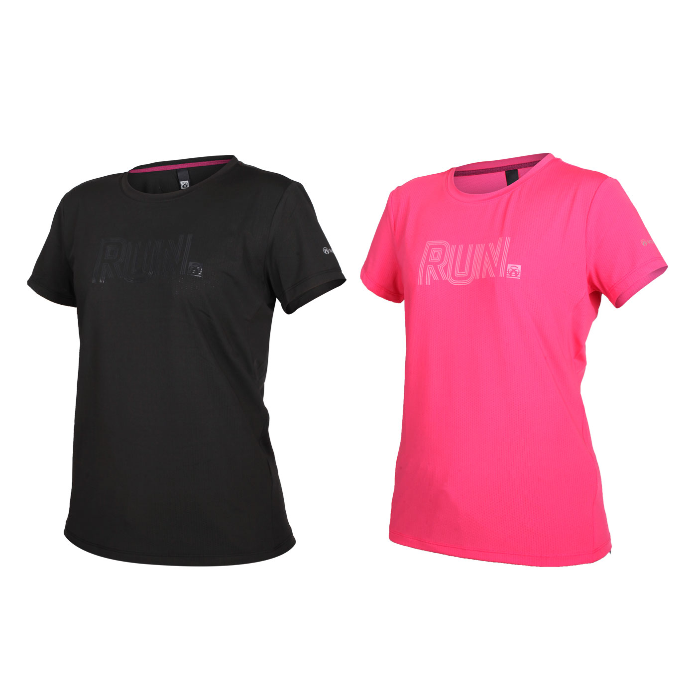 FIRESTAR 女款彈性印花圓領短袖T恤 DL062-10