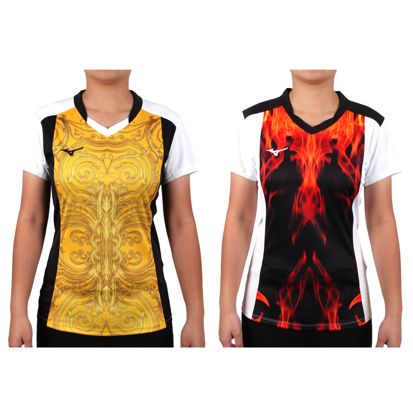 MIZUNO 女排球短袖上衣(2017企業排球聯賽) V2TA7C2843D
