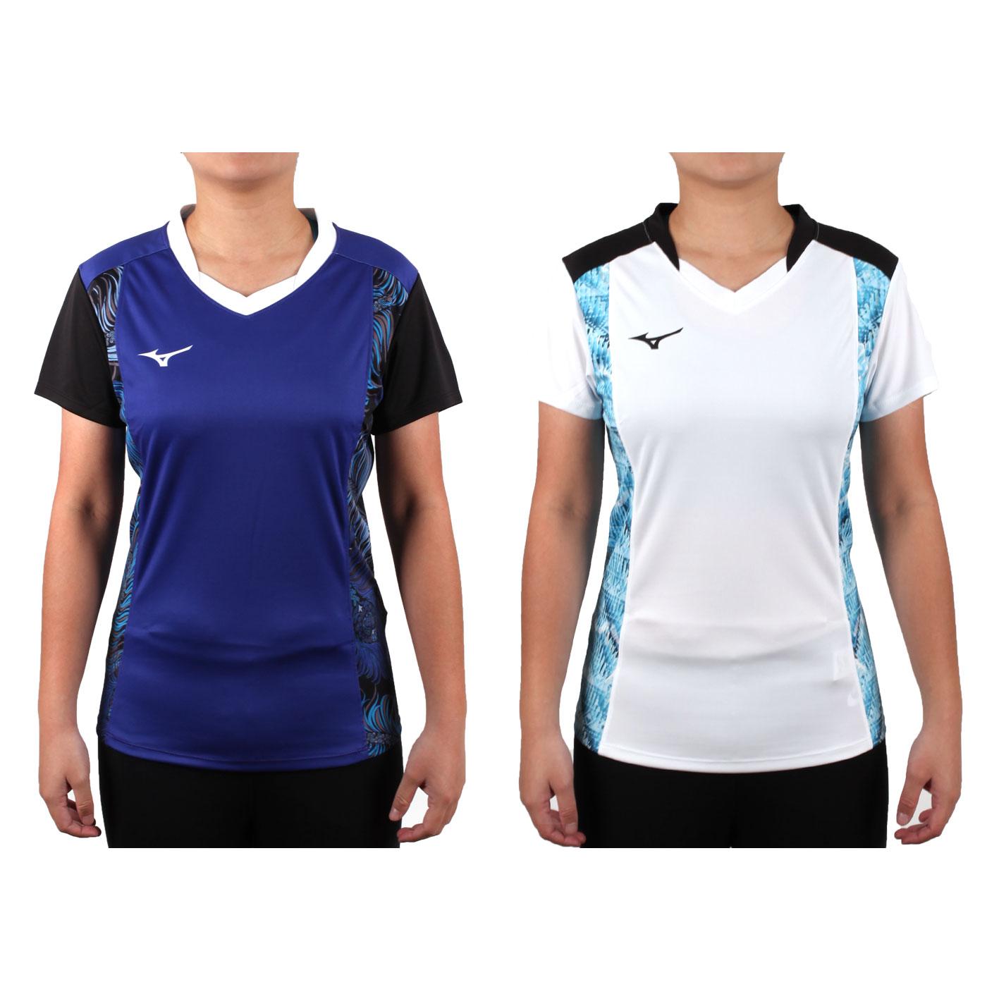MIZUNO 女排球短袖上衣(2017企業排球聯賽) V2TA7C2901D