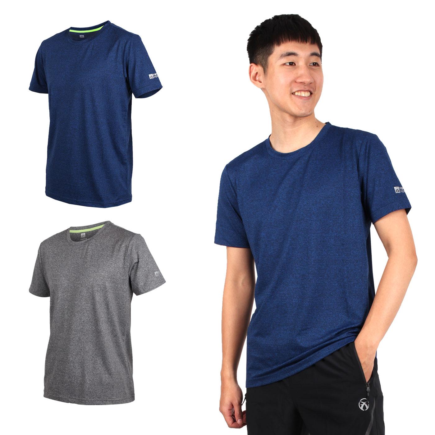 FIRESTAR 男彈性短袖圓領T恤 D9232-18