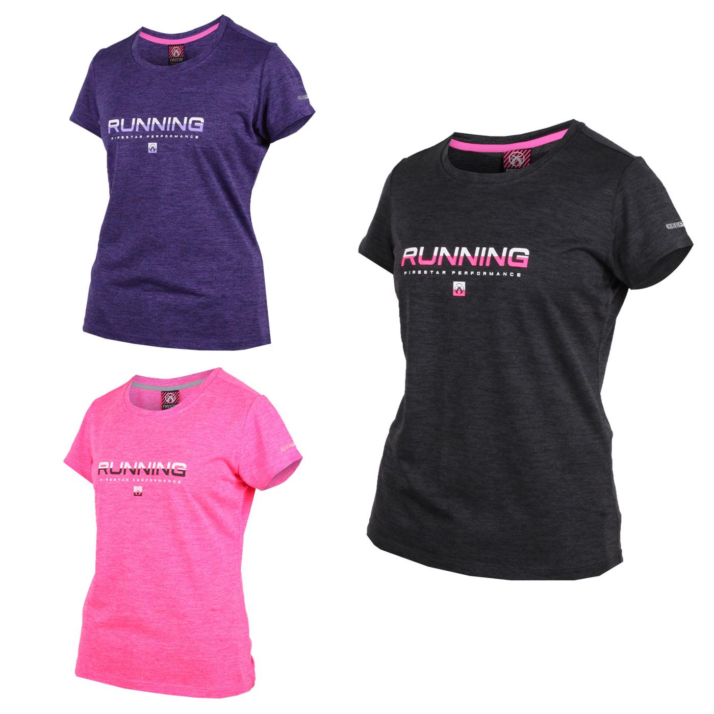 FIRESTAR 女款吸濕排汗圓領短袖T恤 DL961-19