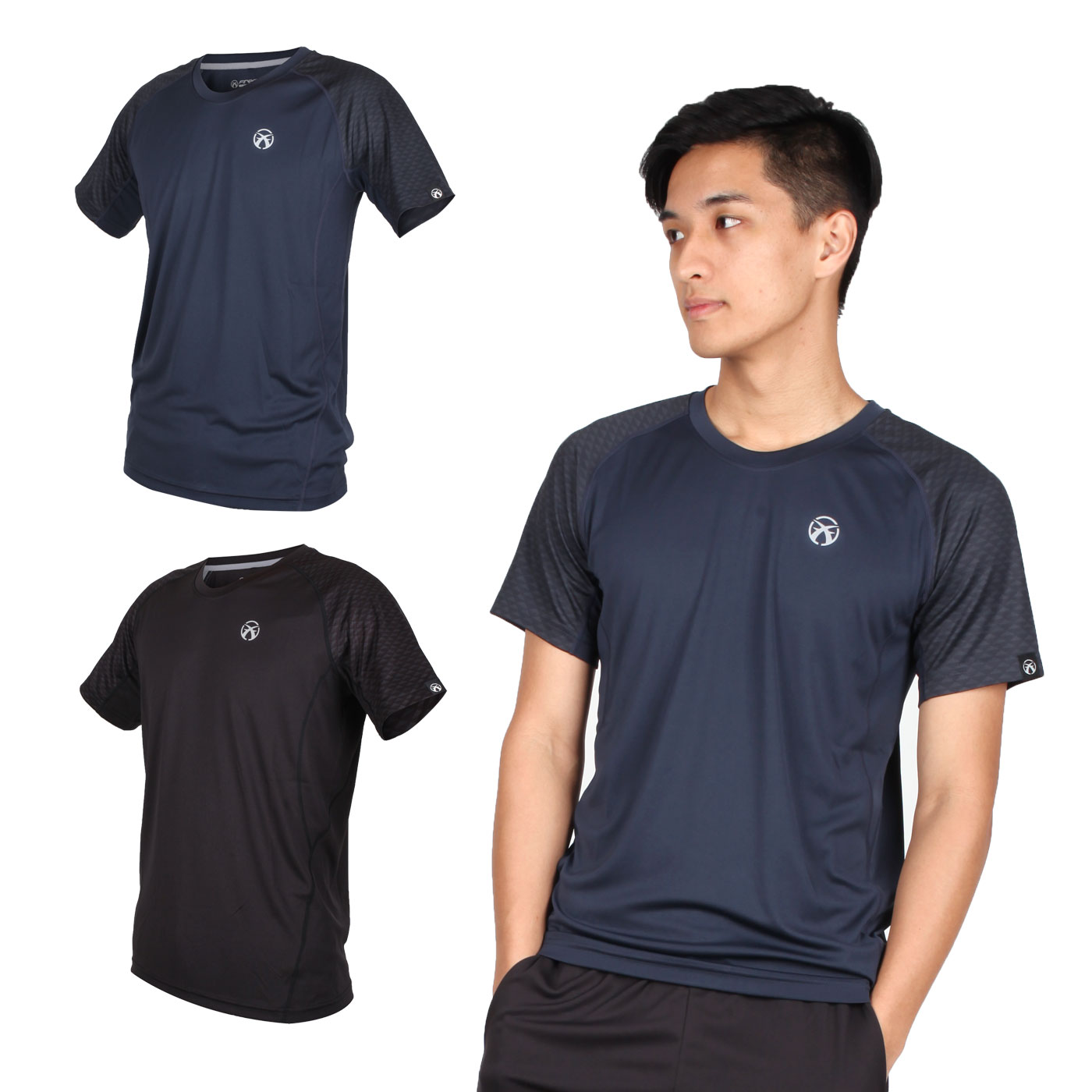 FIRESTAR 男款吸濕排汗圓領短袖T恤 D9235-10