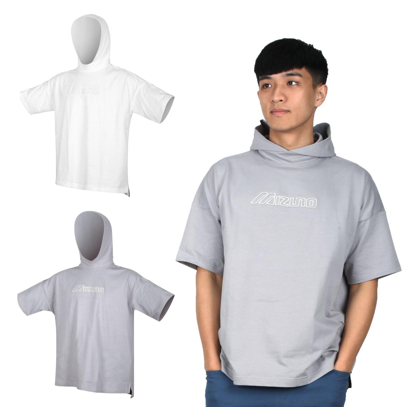MIZUNO 男款1906系列針織連帽短袖T恤 D2MA000101