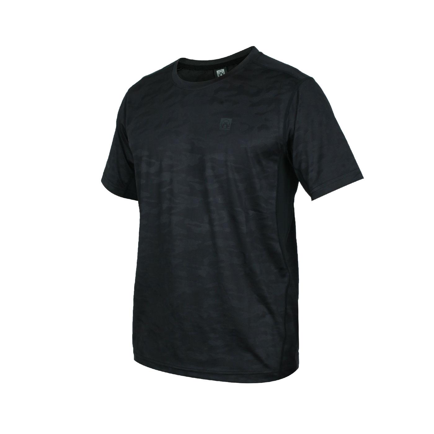 FIRESTAR 男款彈性圓領短袖T恤 D0532-10