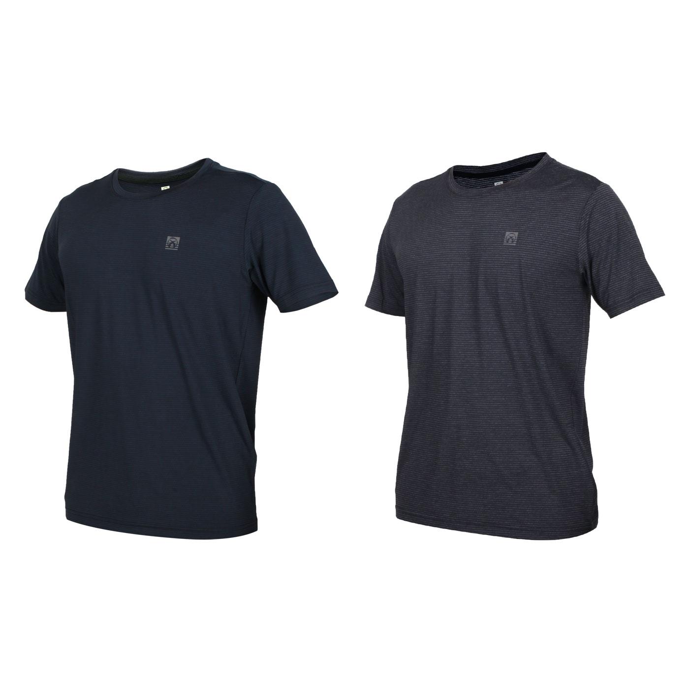 FIRESTAR 男款彈性圓領短袖T恤 D0530-18
