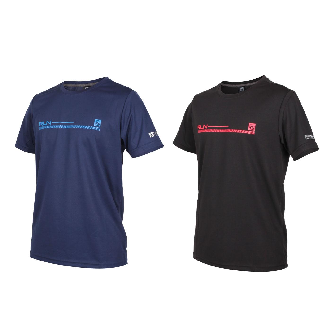 FIRESTAR 男款吸排印花圓領短袖T恤 D0536-10