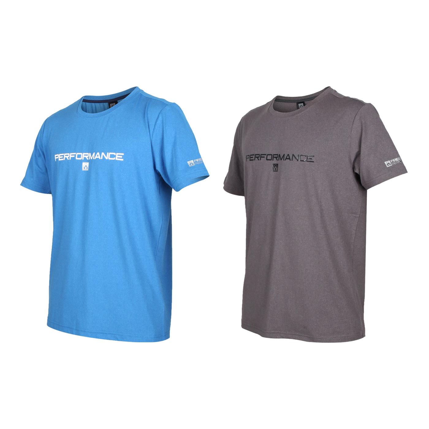FIRESTAR 男款彈性印花圓領短袖T恤 D0538-18