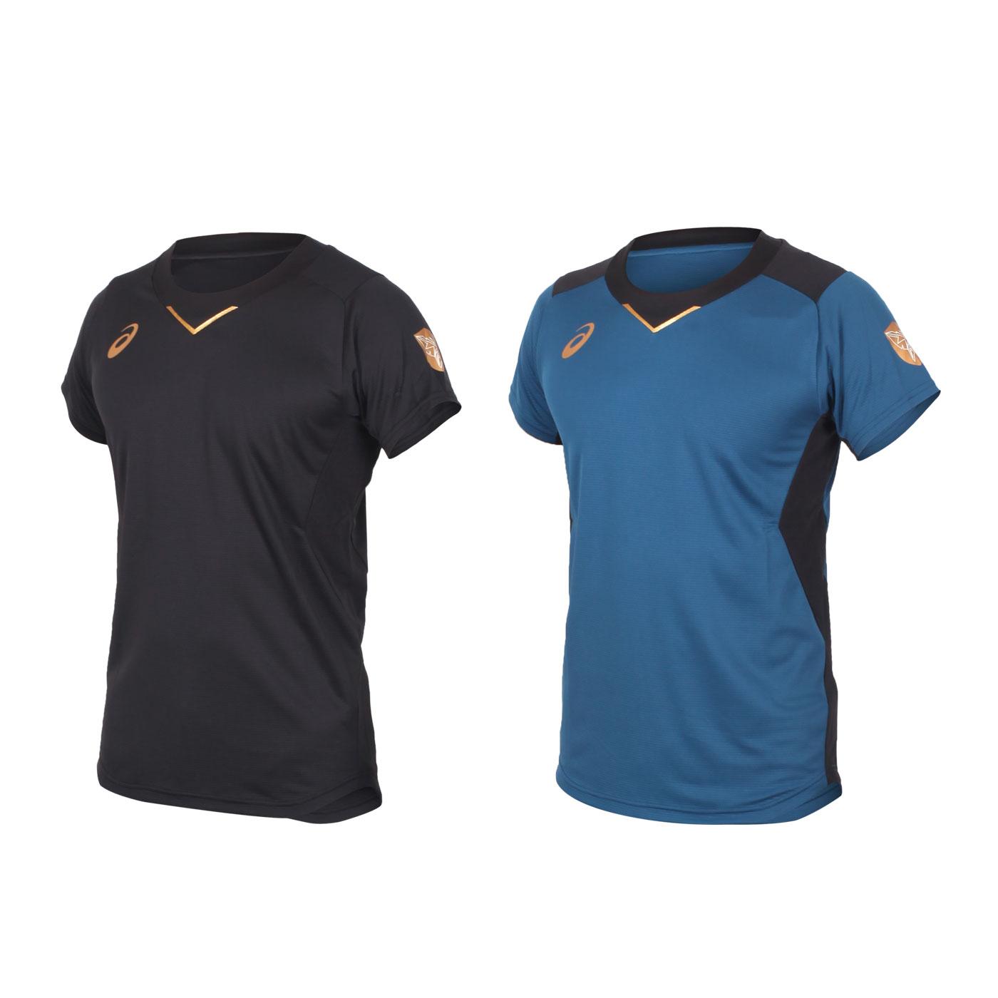 ASICS 男款排球短袖T恤 2051A245-001