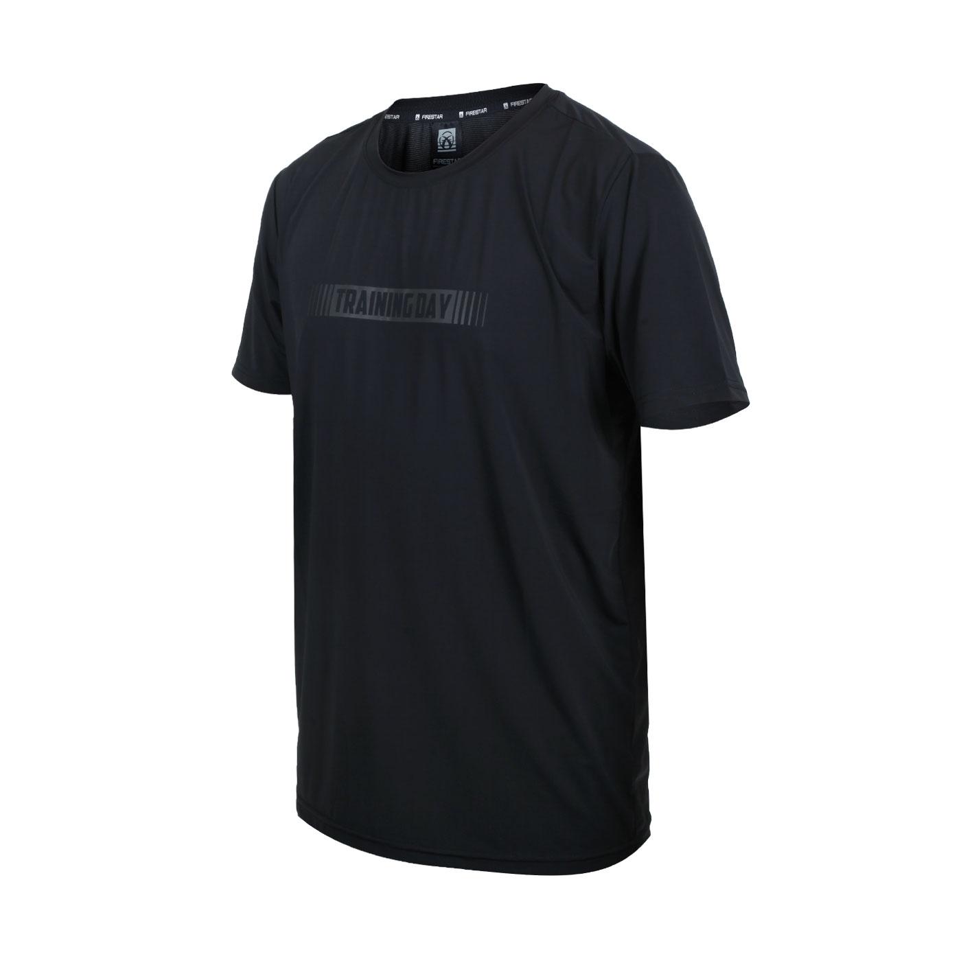 FIRESTAR 男款彈性印花圓領T恤 D1737-10