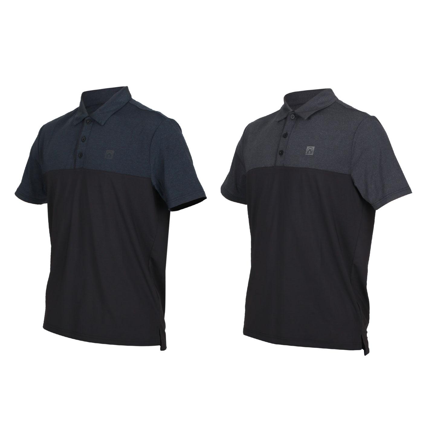 FIRESTAR 男款彈性剪接短袖POLO衫 D0553-18
