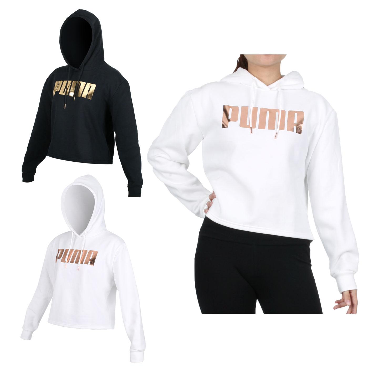 PUMA 女款基本系列Holiday長厚連帽T恤 58185701