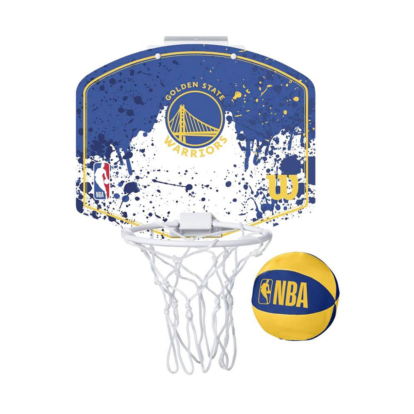 WILSON NBA 迷你籃板 21'勇士隊(含小球) WTBA1302GOL