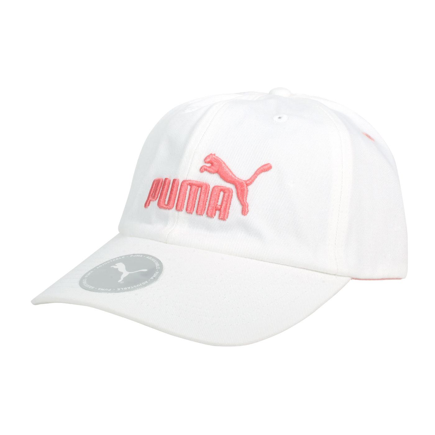 PUMA 基本系列棒球帽 02241640 - 白粉橘