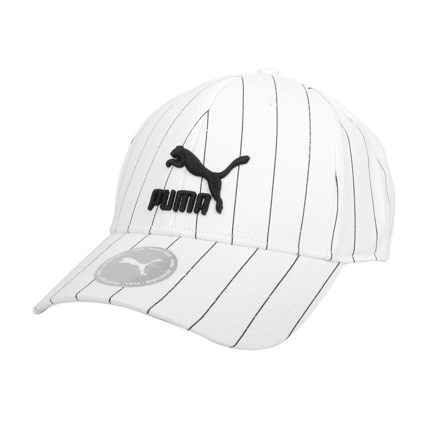 PUMA 流行系列條紋棒球帽 02255410 - 白黑
