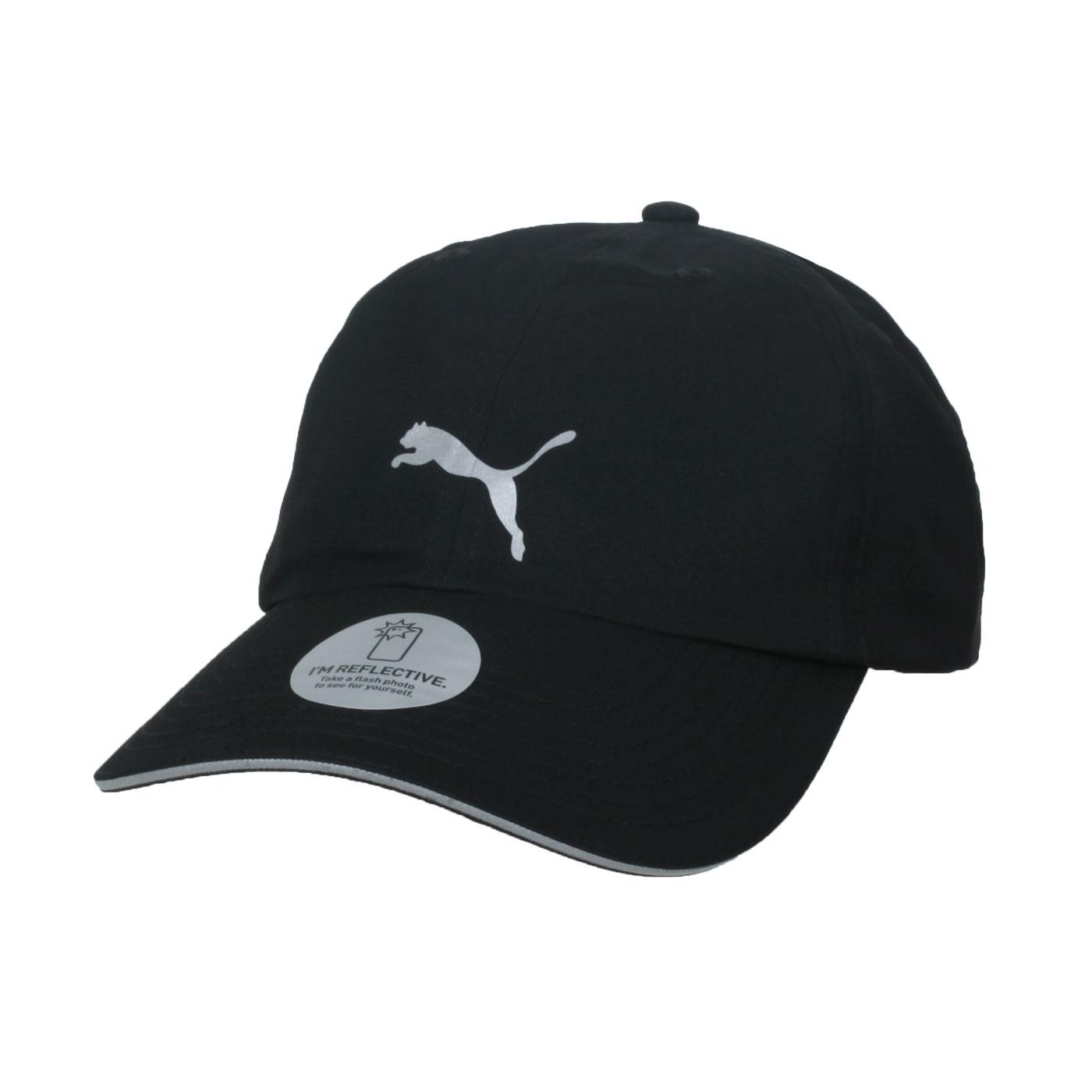 PUMA 慢跑系列棒球帽 05291101 - 黑銀