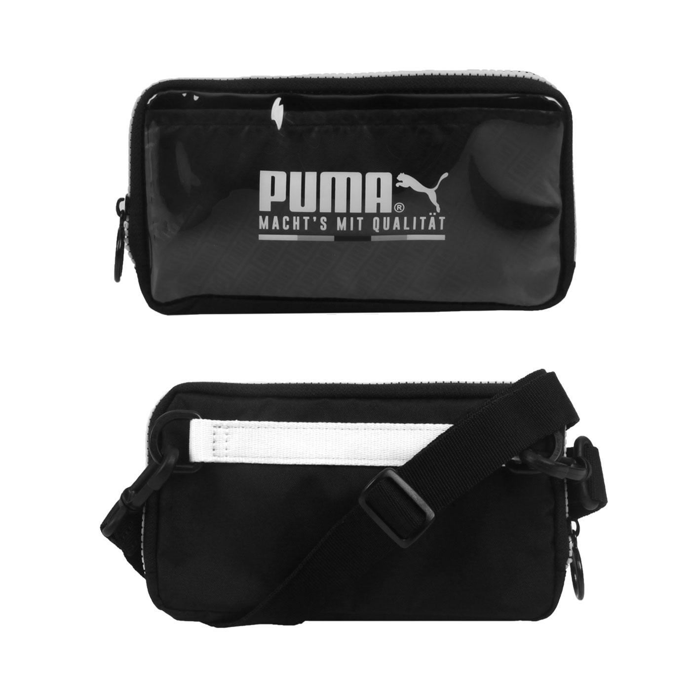 PUMA 隨身小包 07739401 - 透明黑白
