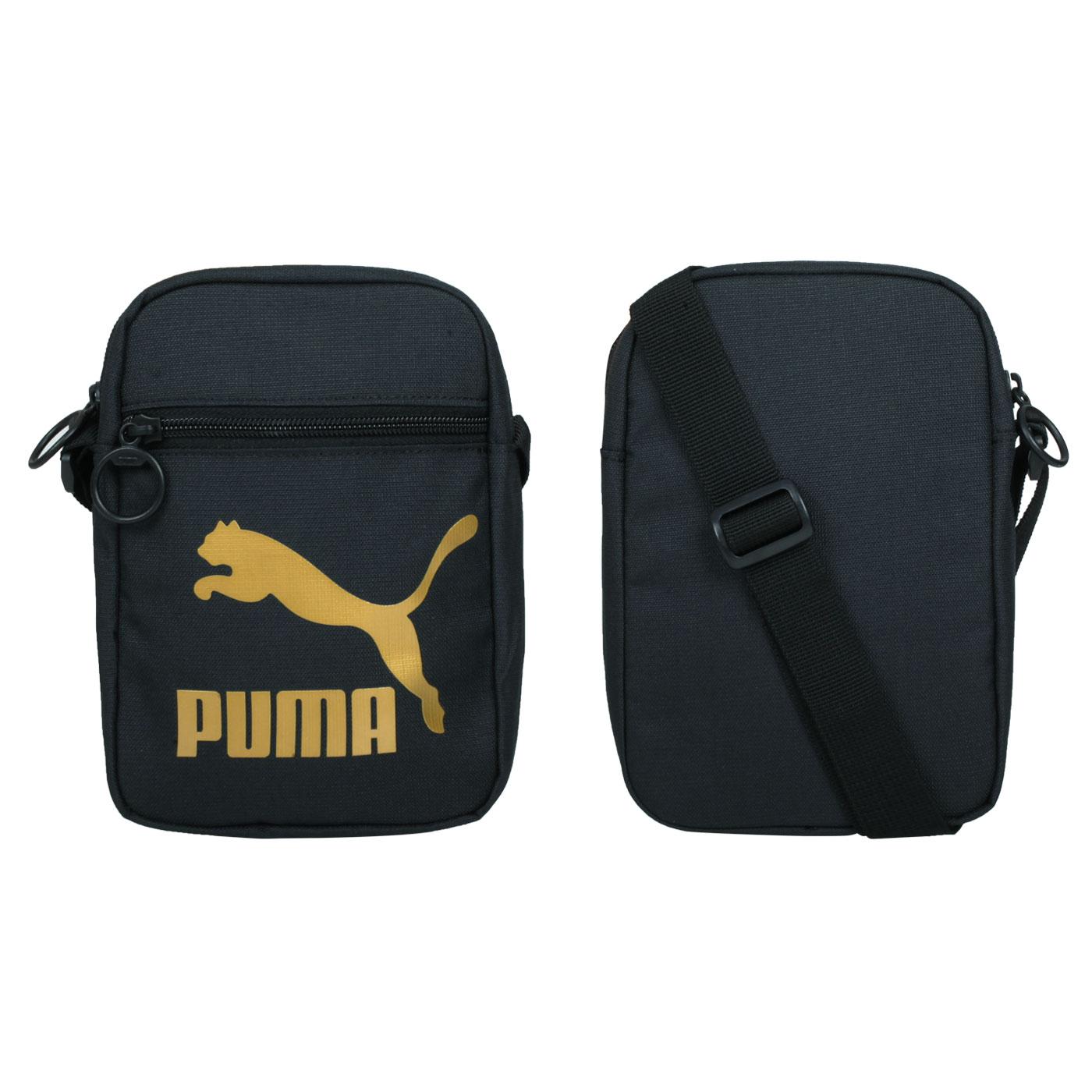 PUMA 小側背包 07800801 - 黑金