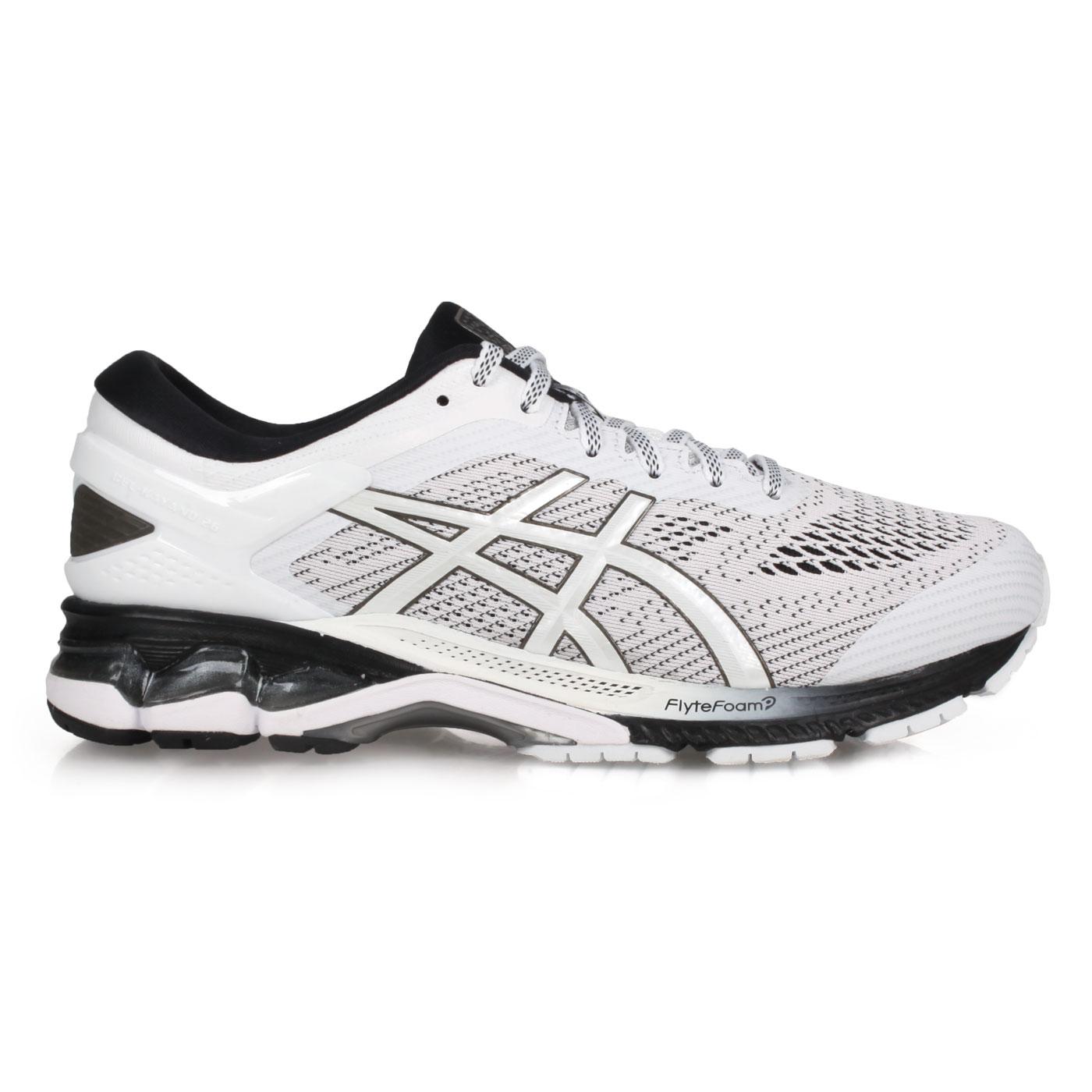 ASICS 男款慢跑鞋  @GEL-KAYANO 26@1011A541-101 - 白淺灰黑