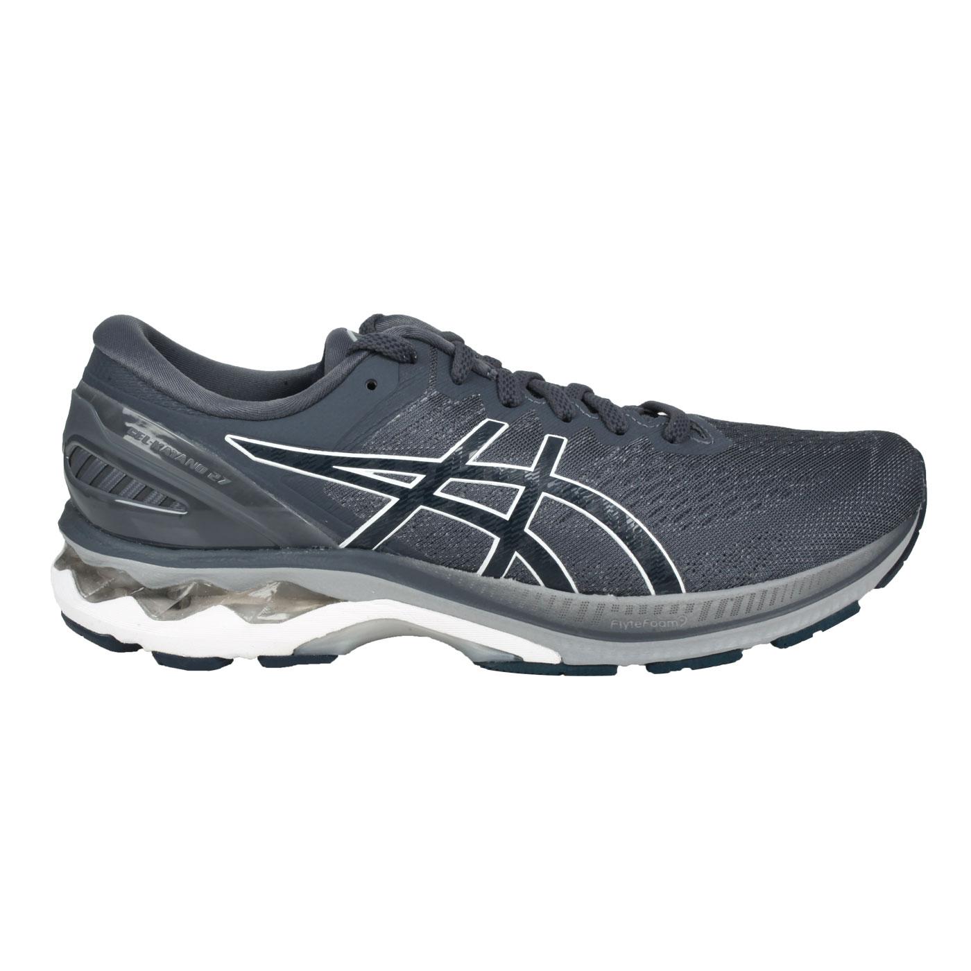 ASICS 男款慢跑鞋  @GEL-KAYANO 27@1011A767-023 - 深墨灰白