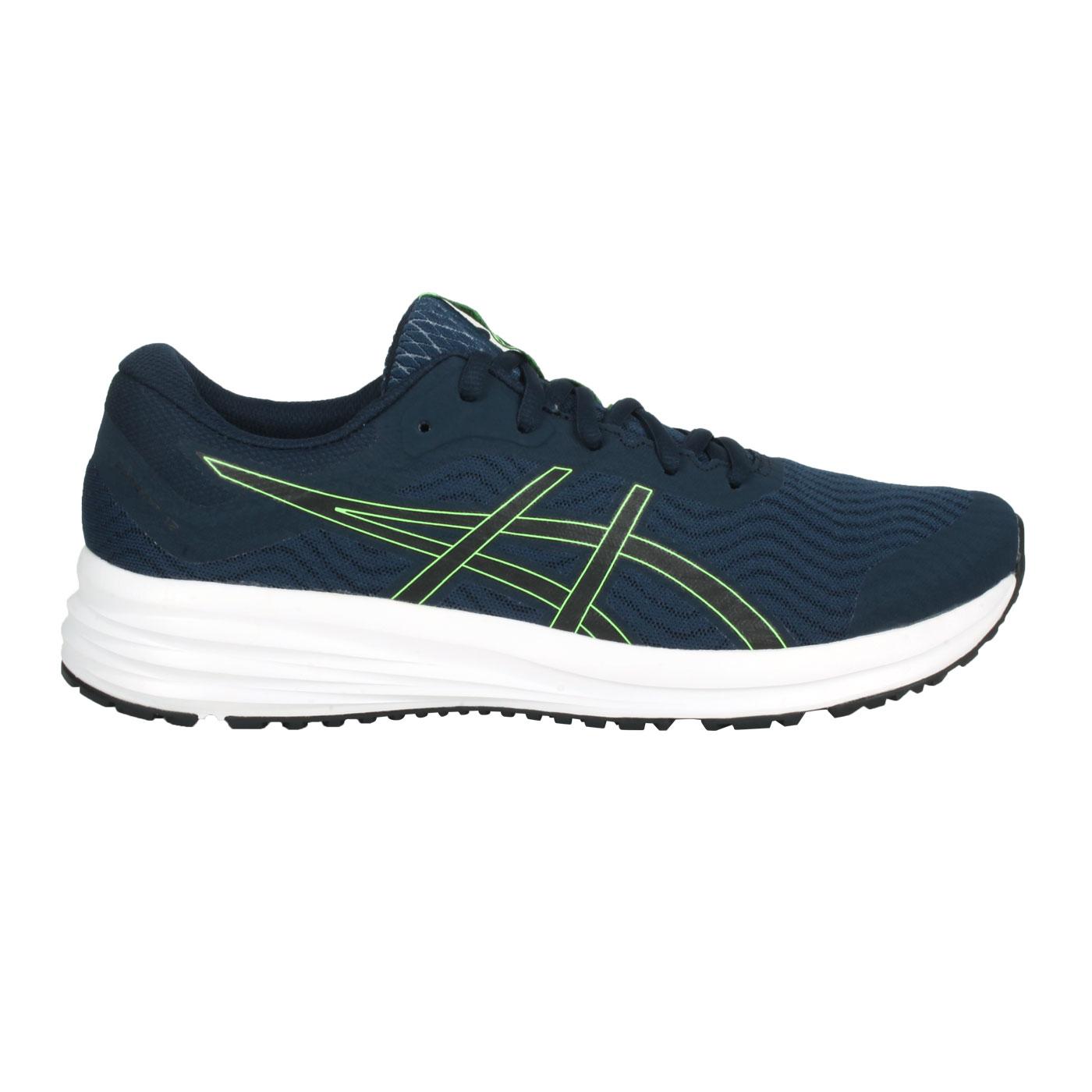 ASICS 男款慢跑鞋  @PATRIOT 12@1011A823-407 - 丈青螢光綠