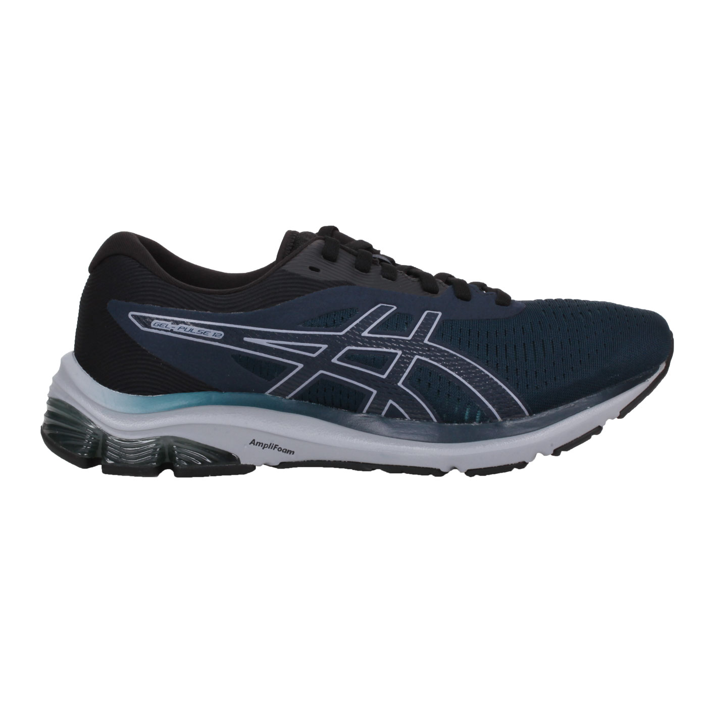 ASICS 男款慢跑鞋  @GEL PULSE 12@1011A844-403 - 藍綠黑