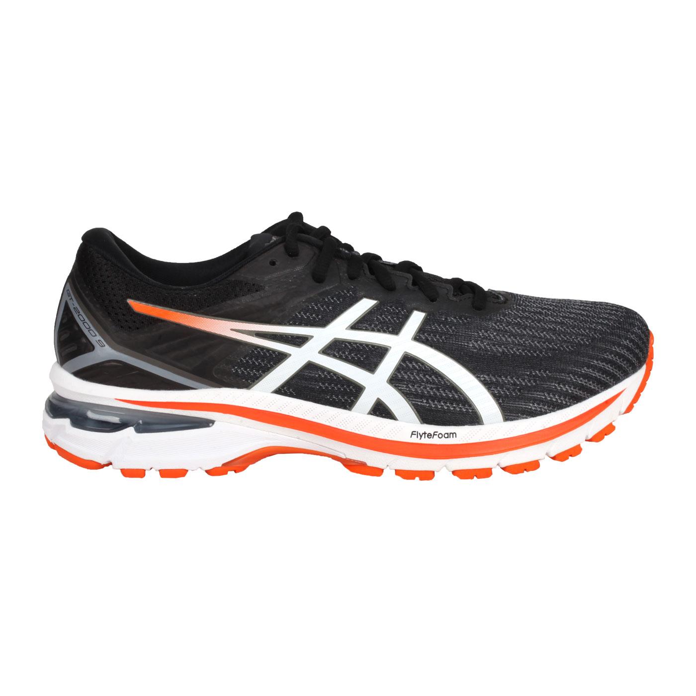 ASICS 男款慢跑鞋-4E  @GT-2000 9@1011A987-004 - 灰黑白橘