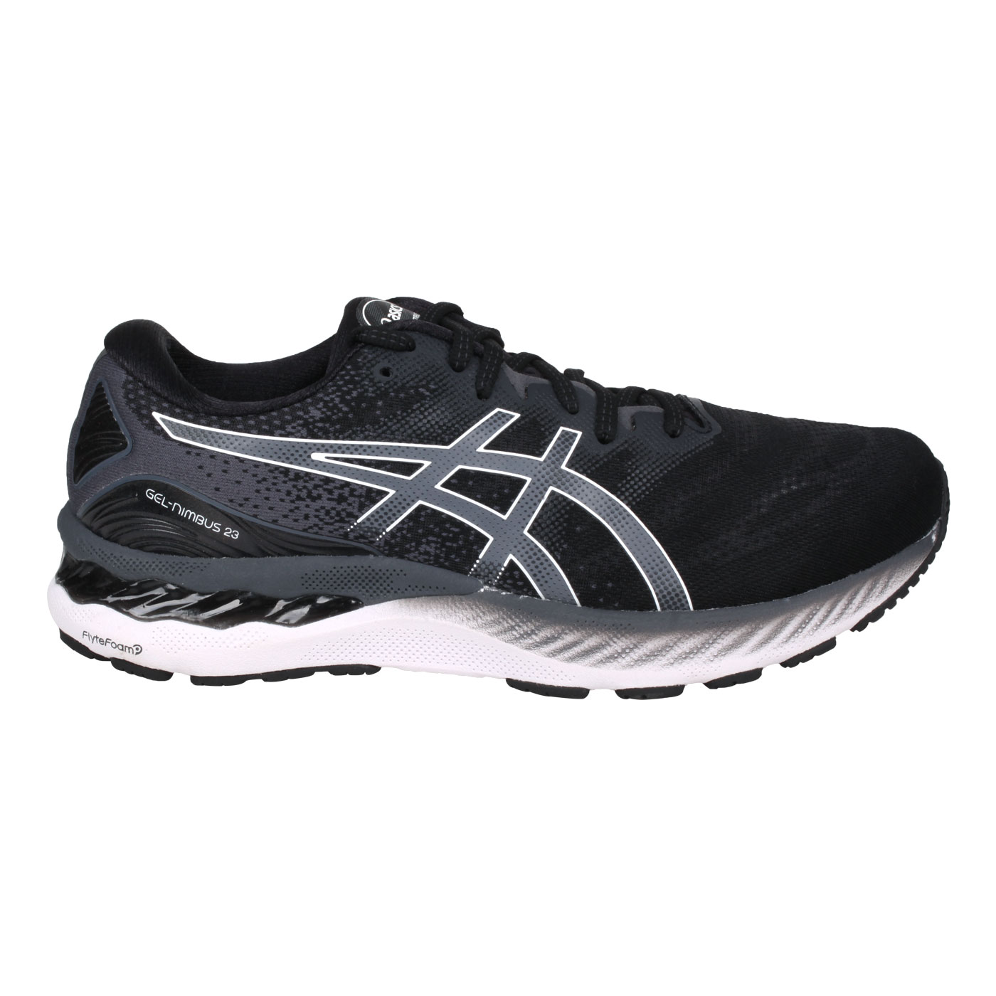 ASICS 男款慢跑鞋-4E  @GEL-NIMBUS 23@1011B005-001 - 黑灰白