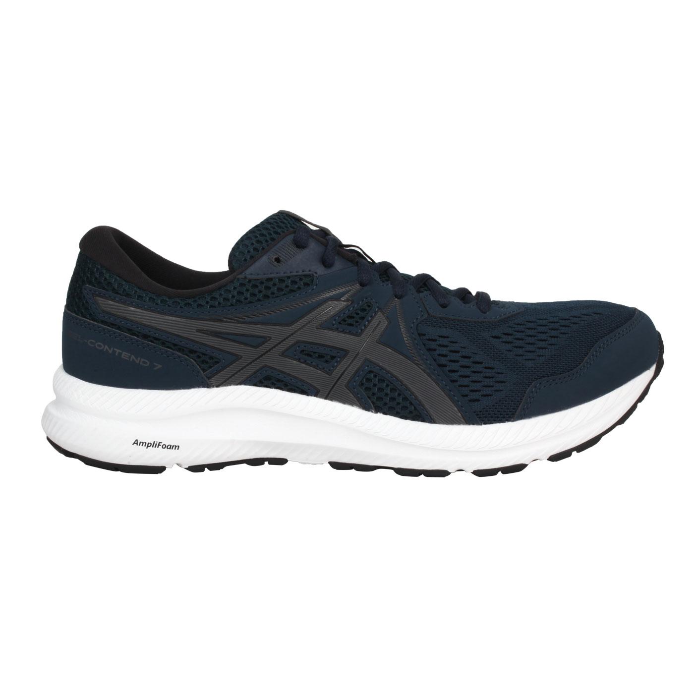 ASICS 男款慢跑鞋  @GEL-CONTEND 7@1011B040-400 - 丈青黑