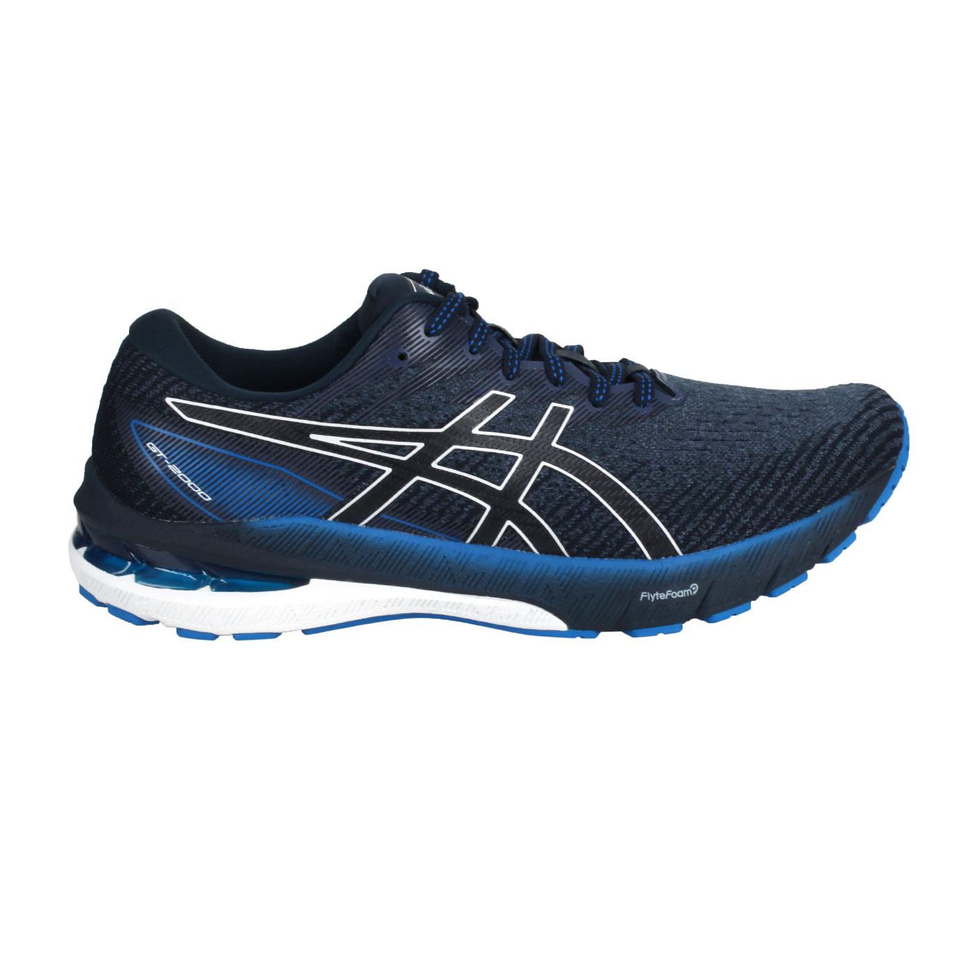 ASICS 男款慢跑鞋  @GT-2000 10@1011B185-400 - 黑藍白