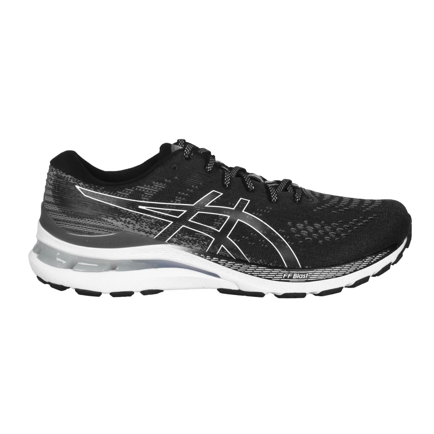 ASICS 男款慢跑鞋-2E  @GEL-KAYANO 28@1011B188-003 - 黑灰白