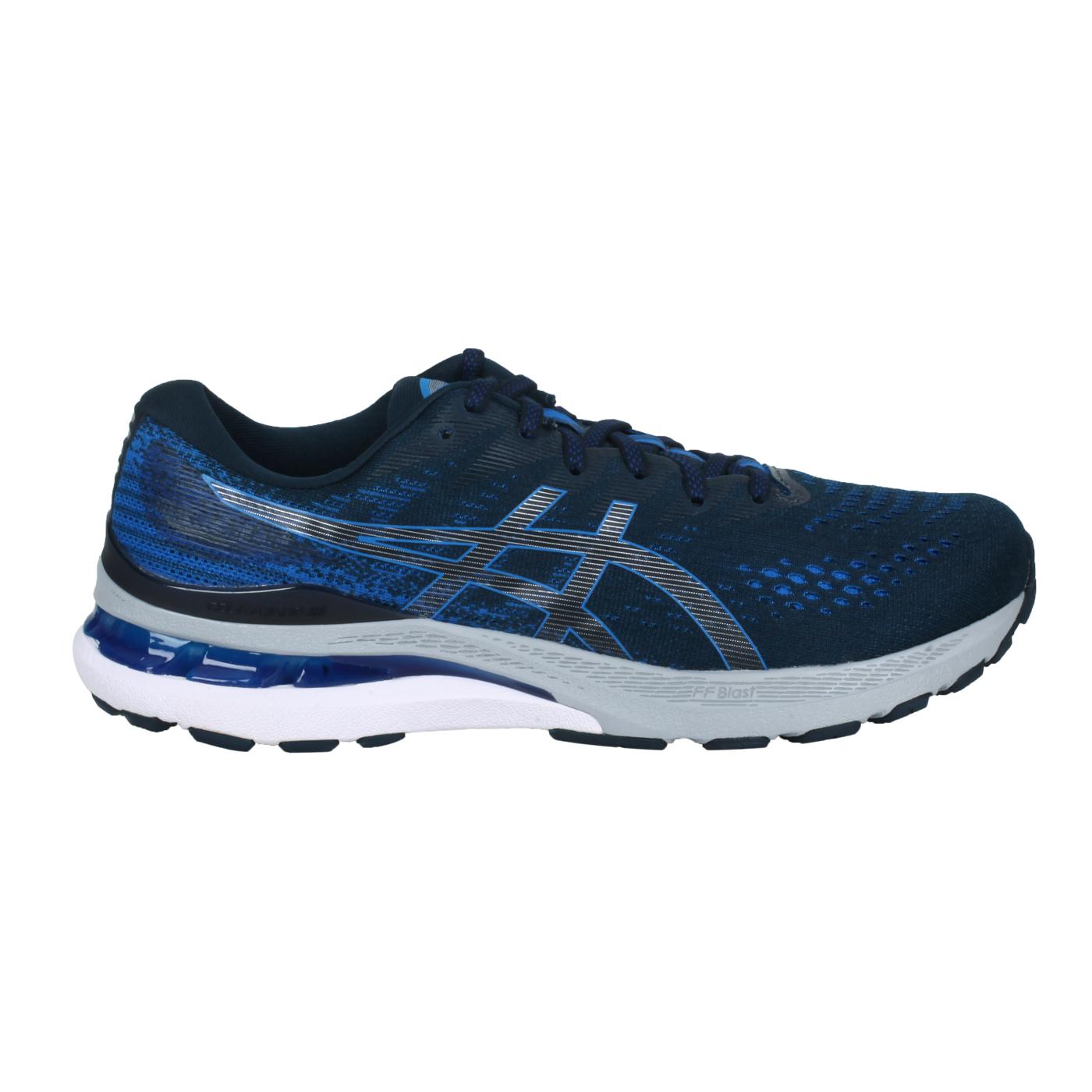ASICS 男款慢跑鞋-2E  @GEL-KAYANO 28@1011B188-400 - 藍銀