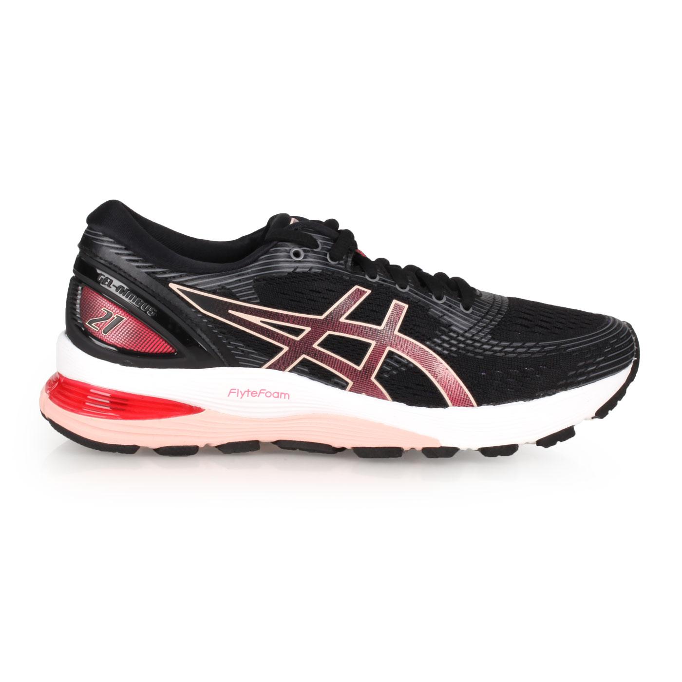 ASICS 女款慢跑鞋  @GEL-NIMBUS 21@1012A156-002 - 黑玫粉