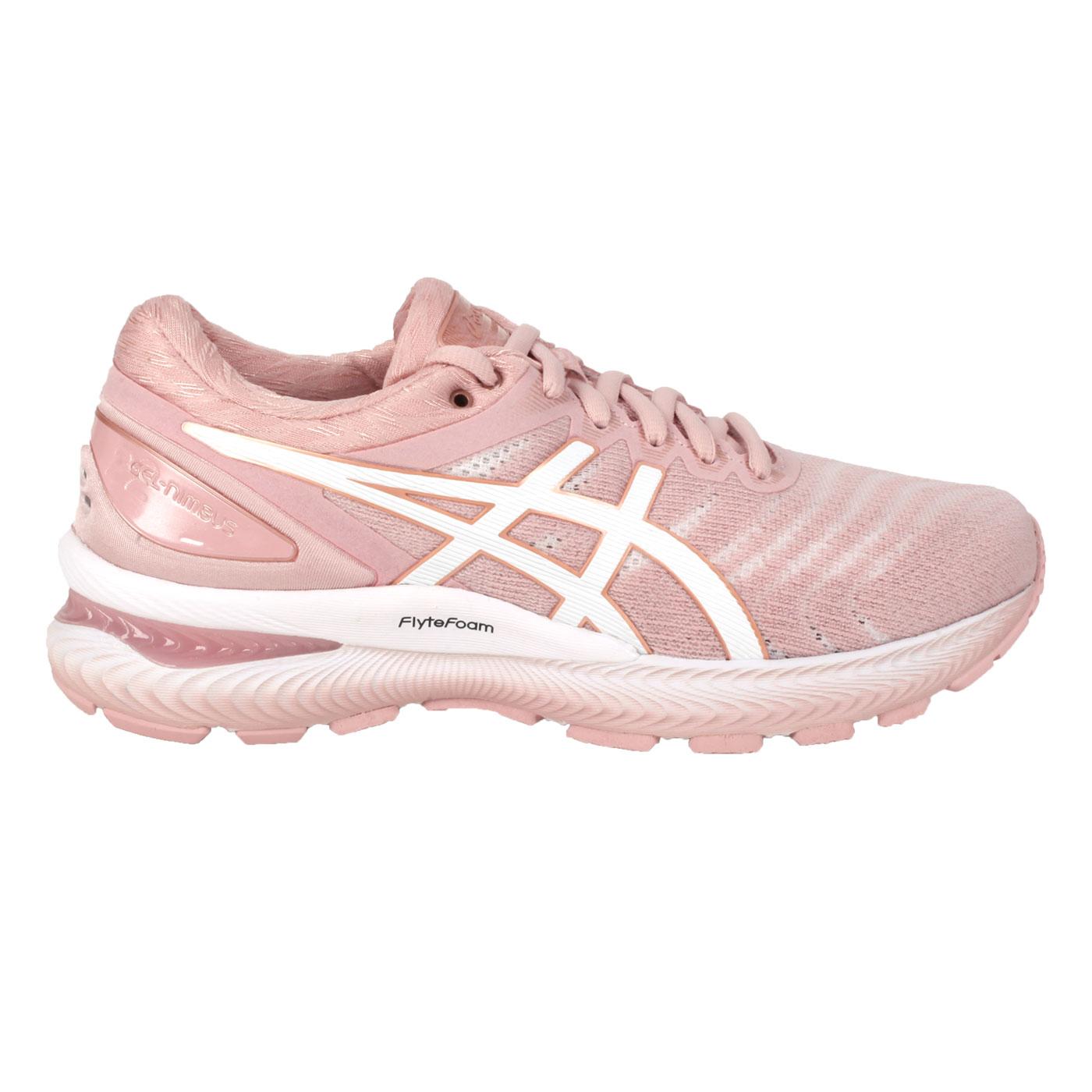 ASICS 女款慢跑鞋-WIDE  @GEL-NIMBUS 22@1012A586-703 - 珊瑚粉白