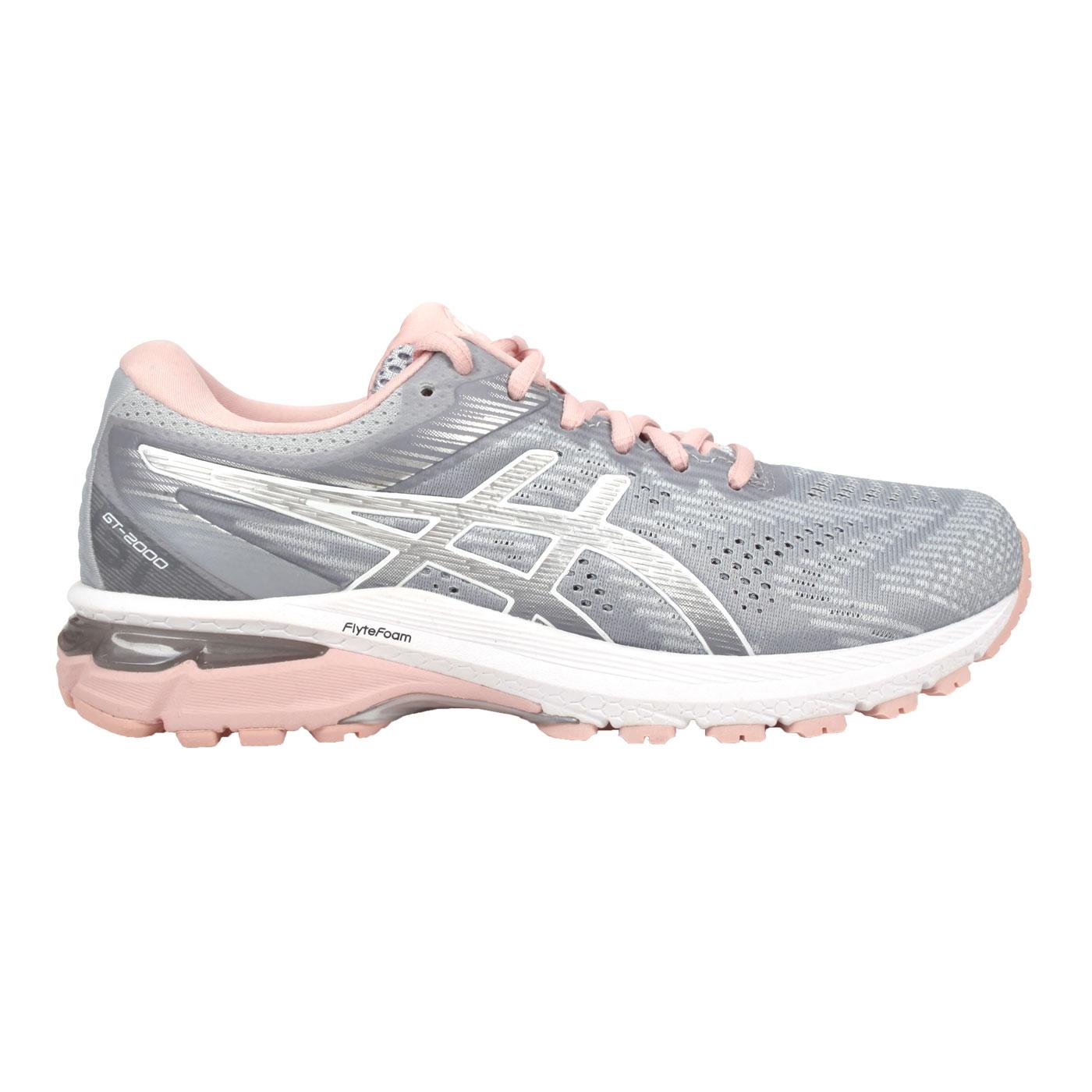 ASICS 女款慢跑鞋  @GT-2000 8@1012A591-023 - 銀灰淺粉紅