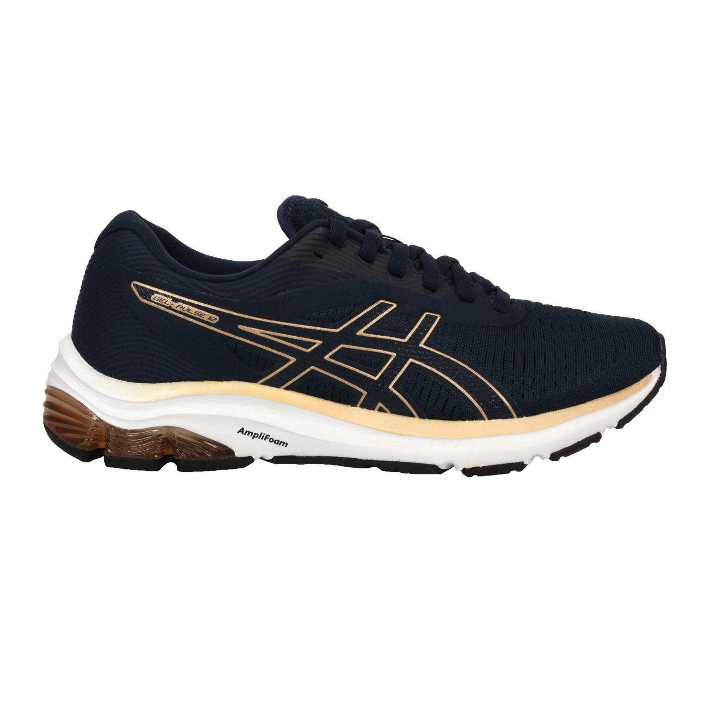 ASICS 女款慢跑鞋  @GEL-PULSE 12@1012A724-403 - 藍綠金黃