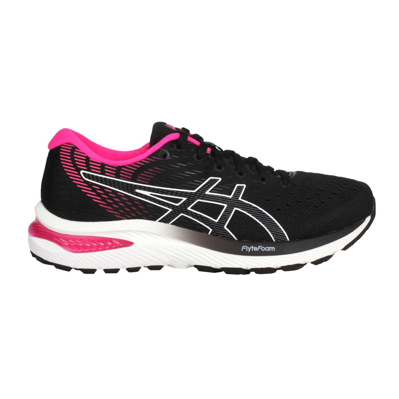 ASICS 女款慢跑鞋-WIDE  @GEL-CUMULUS 22@1012A738-001 - 黑白桃紅