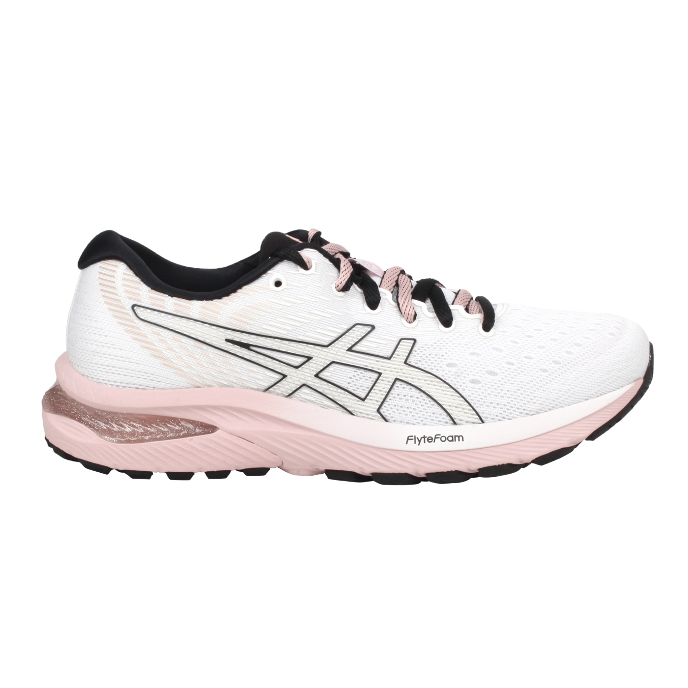 ASICS 女款慢跑鞋  @GEL-CUMULUS 22@1012A839-100 - 白黑粉