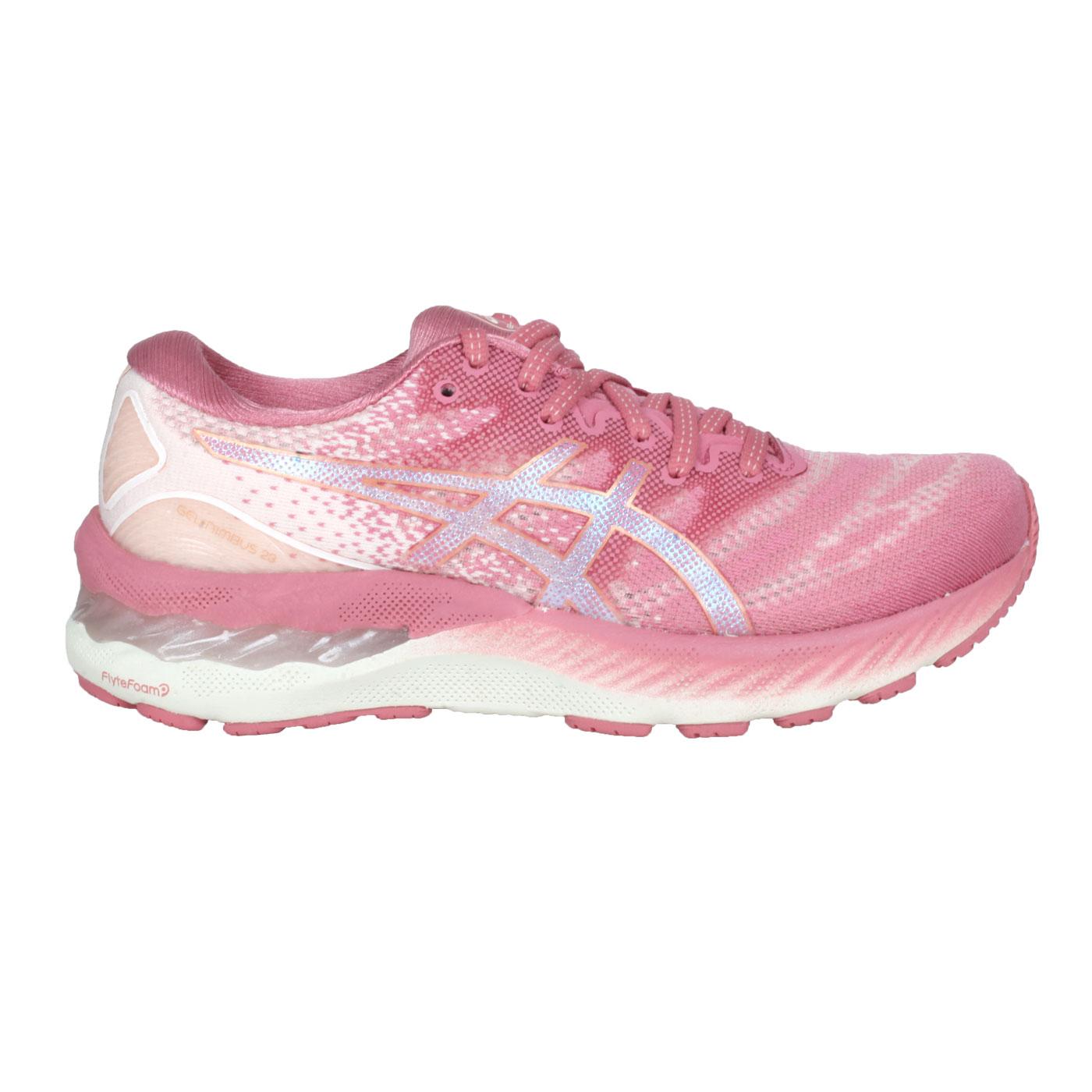 ASICS 女款慢跑鞋  @GEL-NIMBUS 23@1012A885-708 - 玫紅粉橘